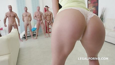 on1 Double Anal GangBang with IncredibleTina Kay - Cannot Break her!