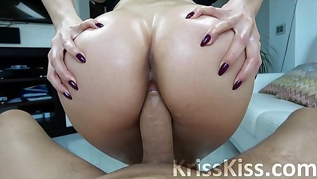Big Ass Teen POV Blowjob and Booty Shake on Big Dick